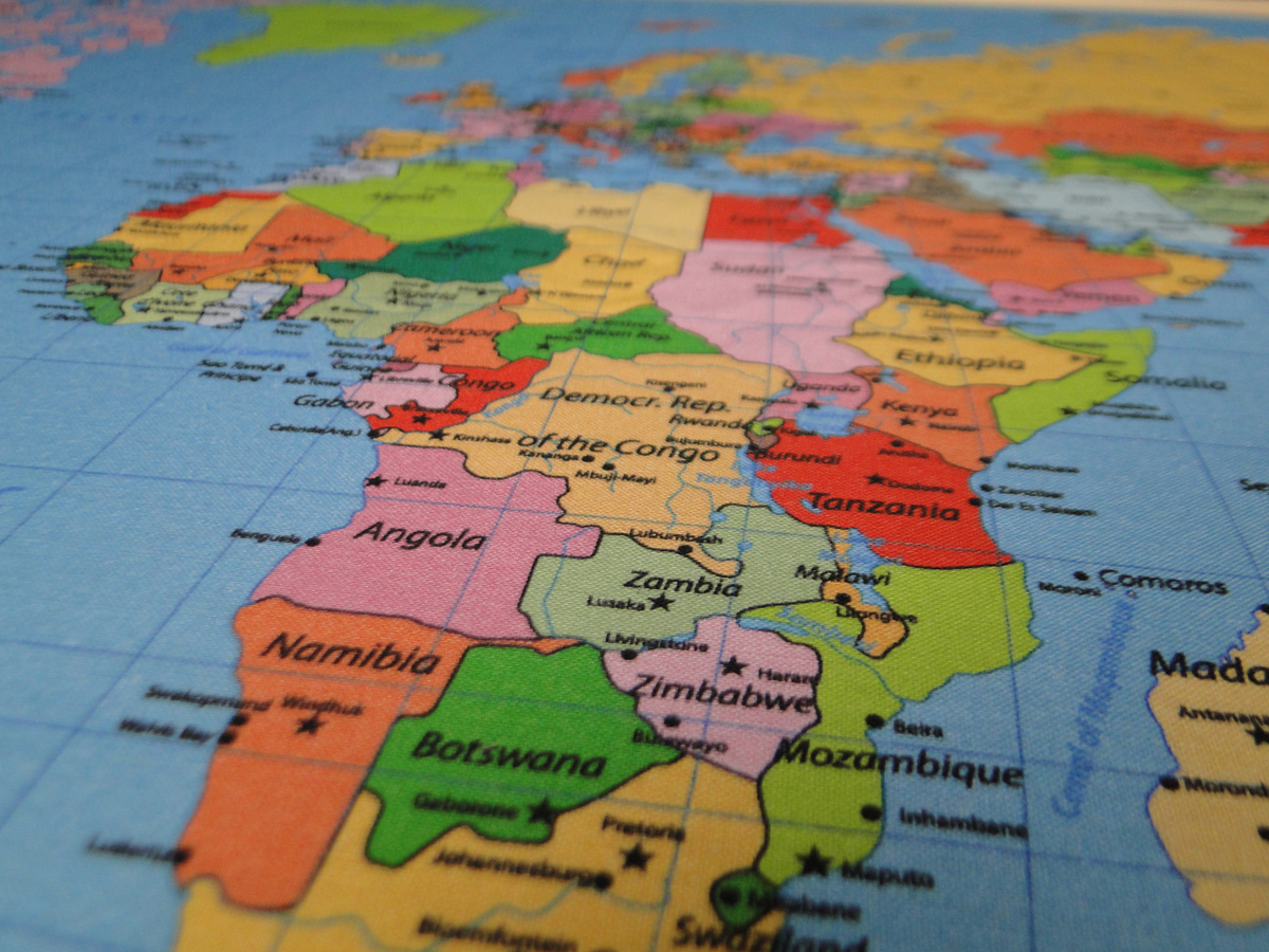 tablica mapa świata